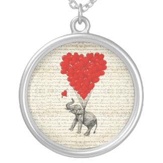 Romantic elephant & heart balloons jewelry