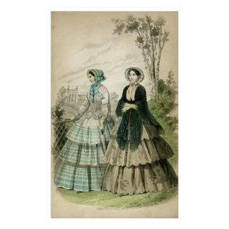 Romantic Era Fashion Poster