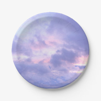 Romantic Evening Sky Paper Plate