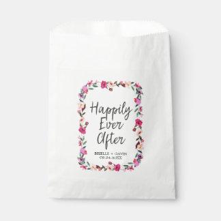 Romantic Fairytale Blossom Wreath Wedding Favour Bag