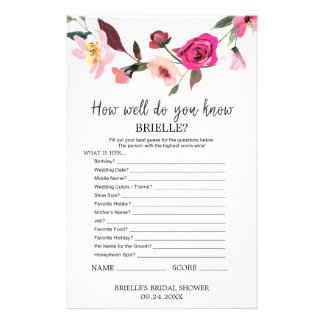 "Romantic Fairytale ""Do You Know The Bride"" Game Flyer"
