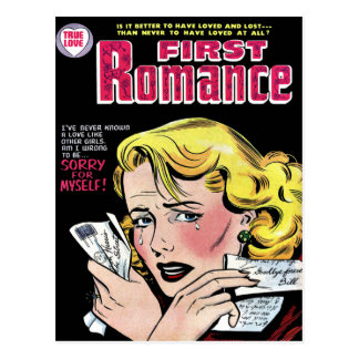 Romantic First Love Breaking Up Postcard