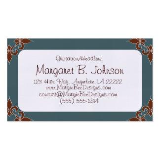 Romantic Fleur de Lis Business Cards