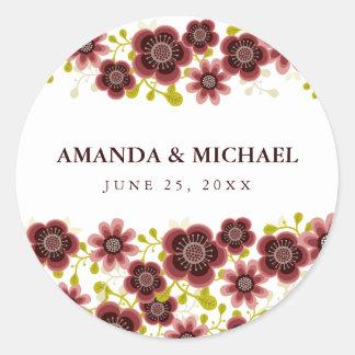 Romantic Floral Bouquet Wedding Day Sticker