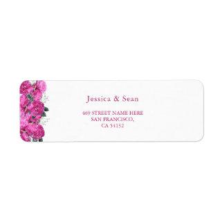 Romantic Floral Bouquet Wedding Return Address Label