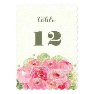 Romantic Floral Design Wedding Table Number Cards 13 Cm X 18 Cm Invitation Card