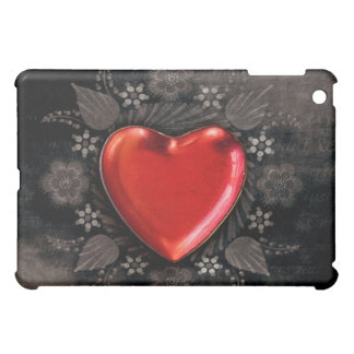 Romantic Floral Heart Valentine Love iPad Mini Cover