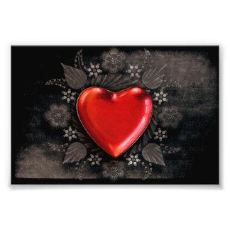 Romantic Floral Heart Valentine Love Photo Print