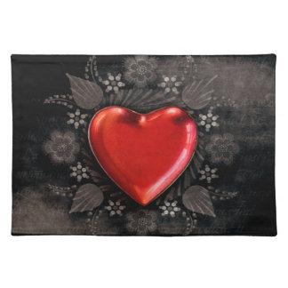 Romantic Floral Heart Valentine Love Placemat
