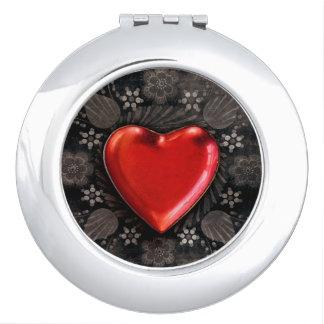 Romantic Floral Heart Valentine Love Vanity Mirrors