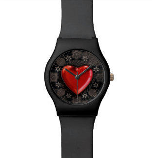 Romantic Floral Heart Valentine Love Wrist Watches