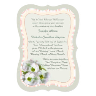 Romantic Floral in Pastel Colors Wedding 13 Cm X 18 Cm Invitation Card