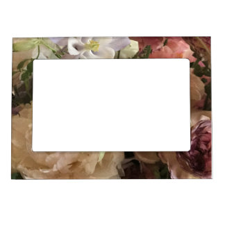 Romantic Floral Magnetic Photo Frame