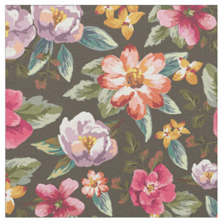 Romantic Floral Pattern | Vintage Flowers Fabric