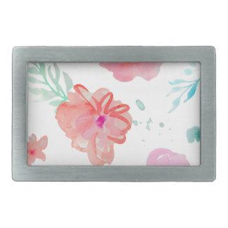 Romantic Floral Pink Watercolor Cool & Elegant for Belt Buckle