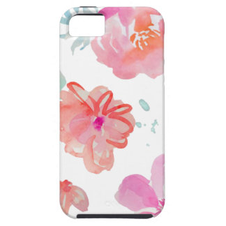 Romantic Floral Pink Watercolor Cool & Elegant for Tough iPhone 5 Case