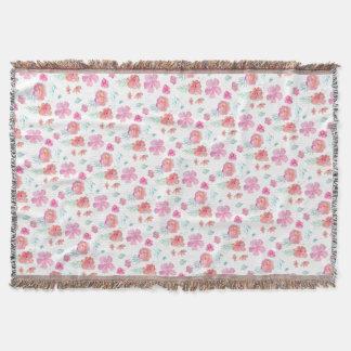 Romantic Floral Pink Watercolor Flowers