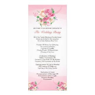 Romantic Floral Wedding Program Custom Rack Cards