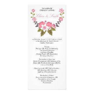 Romantic Floral Wedding Program Rack Card Template