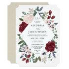 Romantic Florals Wedding Invitation