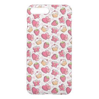 romantic food pattern iPhone 7 plus case