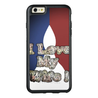 Romantic French Blue National Color I Love My Wife OtterBox iPhone 6/6s Plus Case