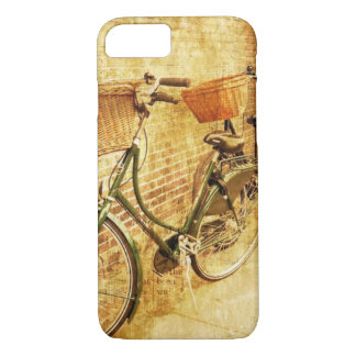 Romantic French Modern Vintage Paris Bicycle iPhone 8/7 Case