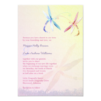 Romantic Garden Dragonfly Wedding Card
