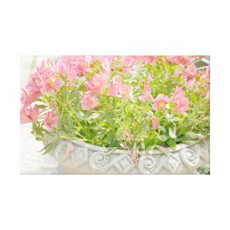 Romantic Garden Flowers Stretched Canvas Prints