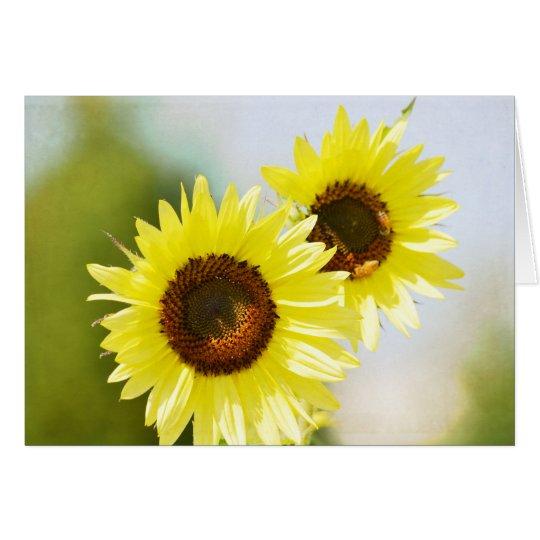 Romantic Garden Flowers Sunflowers Card