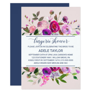 Romantic Garden Lingerie Shower Card