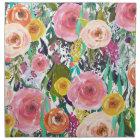 Romantic Garden Watercolor Flowers Napkin
