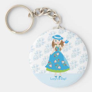 Romantic girl birthday party key ring