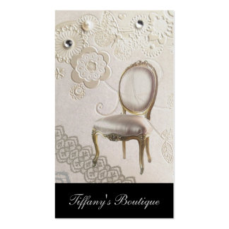 romantic girly chandelier Rococo chair paris Double-Sided Standard Business Cards (Pack Of 100)