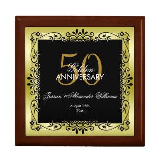 Romantic Gold Decorative Framed 50th Wedding Gift Box