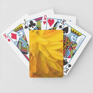 Romantic golden dahlia bicycle playing cards