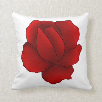 Romantic gothic red rose cushion