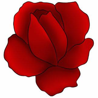 Romantic gothic red rose photo sculpture magnet