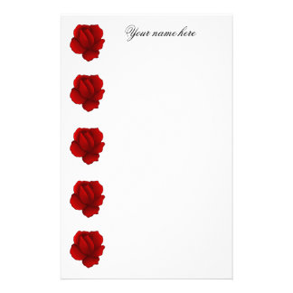 Romantic gothic red rose customized stationery