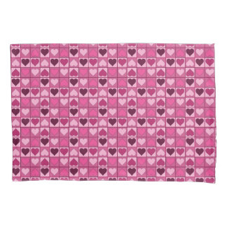 Romantic Graphical Small Pink Hearts Up and Down Pillowcase