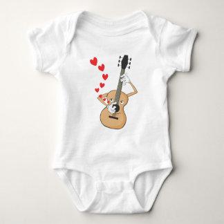 Romantic Guitar Serenading Baby Bodysuit