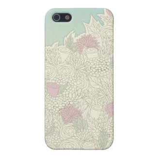 Romantic hand drawn flowers iPhone 5/5S case
