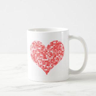 Romantic Happy Valentine´s Day Heart Basic White Mug