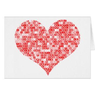 Romantic Happy Valentine´s Day Heart Card