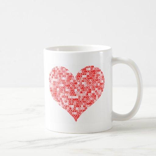 Romantic Happy Valentine´s Day Heart Mugs