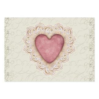 Romantic Heart Business Card by SRF