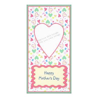 Romantic heart design personalized photo card