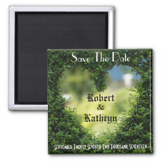 "Romantic Heart Ivy ""Save The Date"" Magnet"