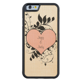 Romantic Heart Love Maple iPhone 6 Bumper