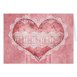 Romantic Heart Scrapbook Style Anniversary Card